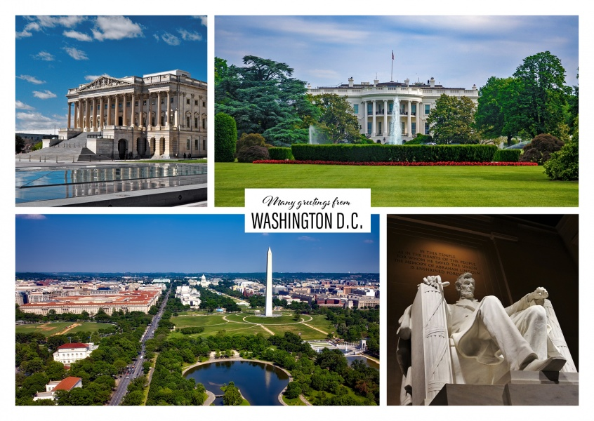 washington dc multipicture collage