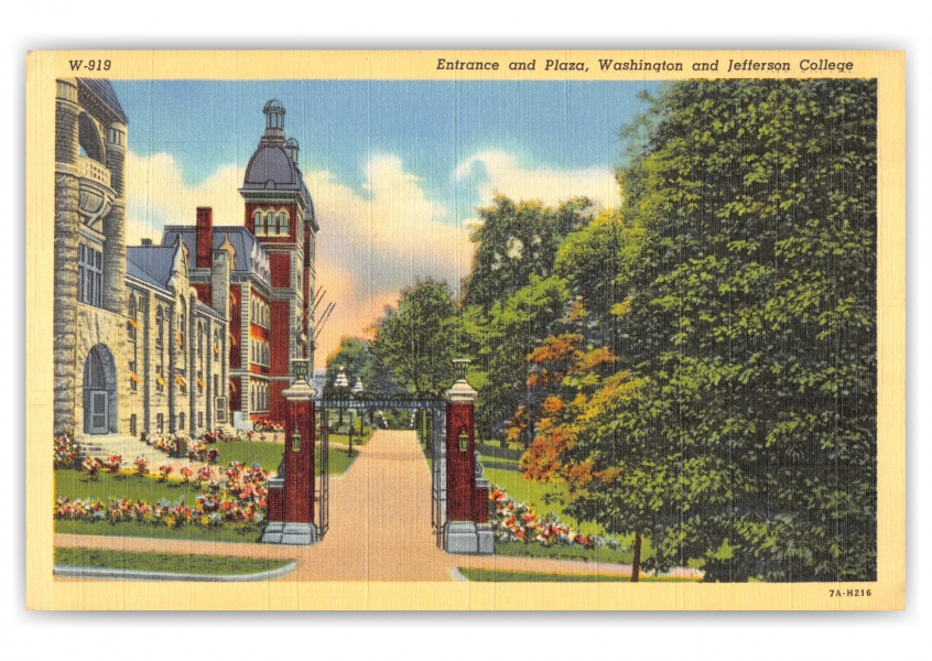 Washington, Pennsylvania, Entrance and Plaza, Washington and Jefferson College