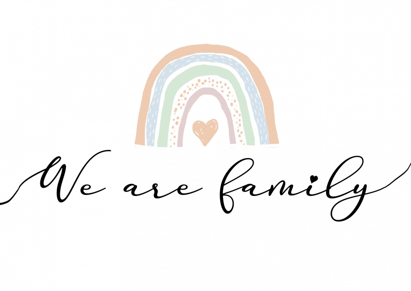 postcard We are family