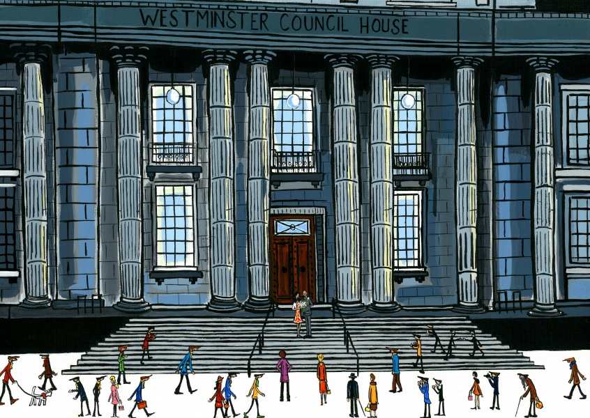 Illustration South London Artist Dan South London Artist Dan Westminster council house