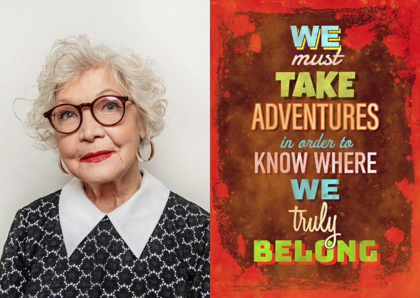 Vintage quote card: We must take adventures in order to know where we truly belong