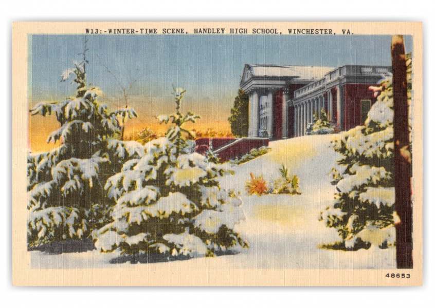 Winchester, Virginia, Handley High School in winter