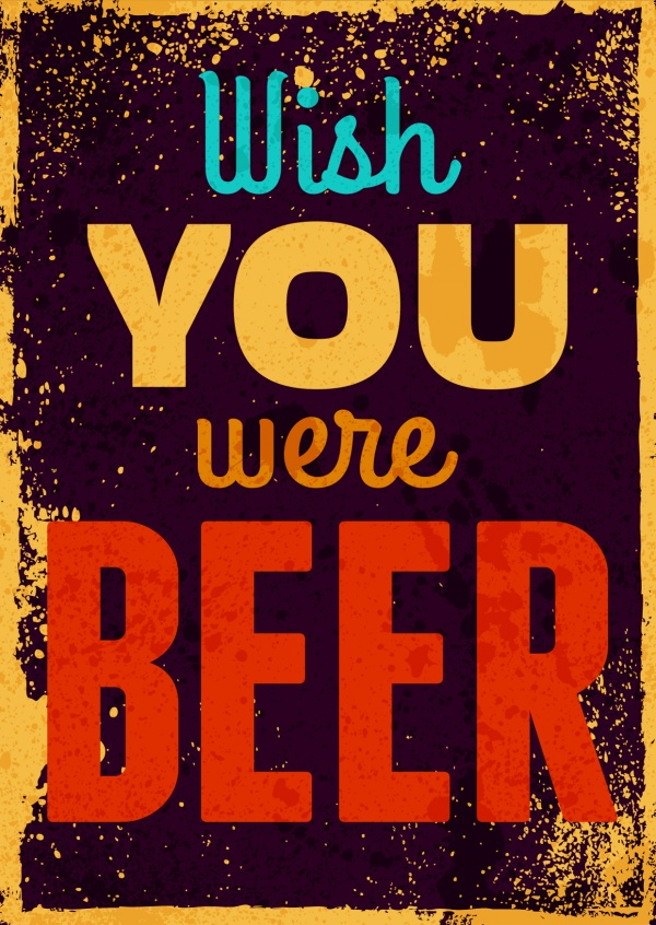 Your own funny cards printed mailed for you international as funny greeting card with quote wish you were beer m4hsunfo