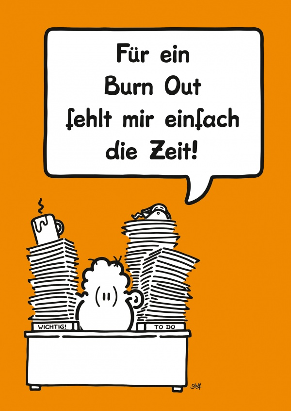 Burn Out Comic Cartoons Echte Postkarten Online Versenden