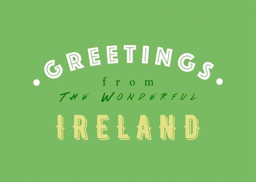 Wonderful ireland vacation greeting cards send real postcards online greetings from the wonderful ireland m4hsunfo