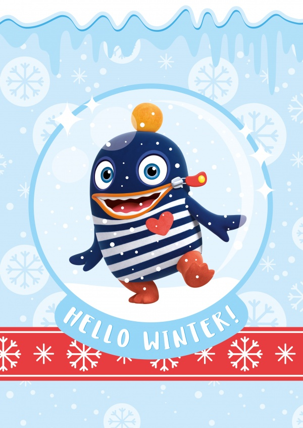 Worry Eater Ping dancing in the snow