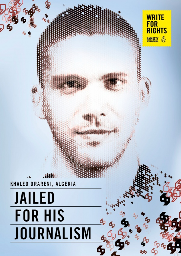 AMNESTY INTERNATIONAL Khaled Drareni, Algeria