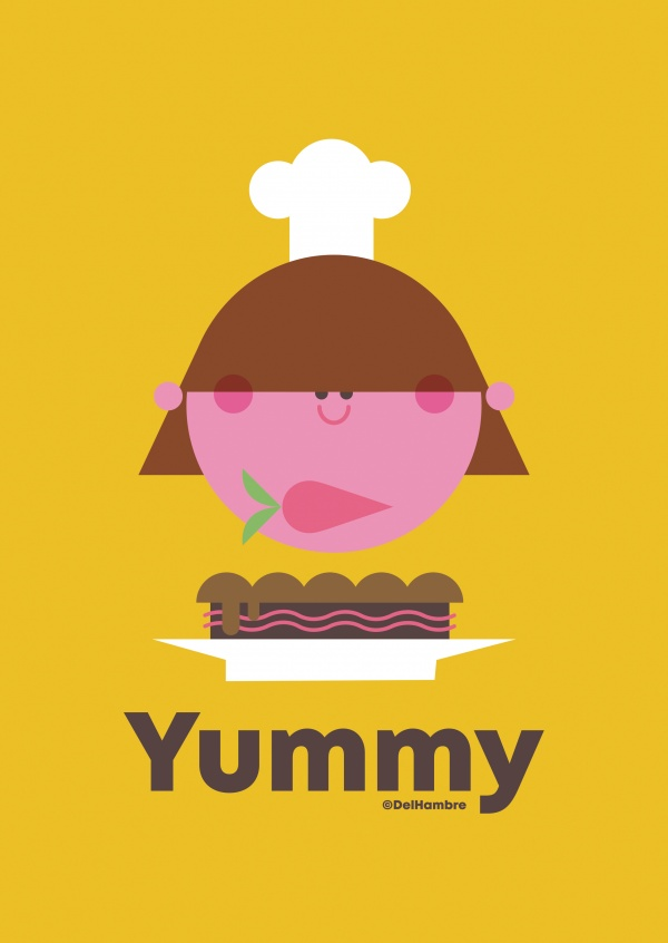 Del Hambre Illustration yummy 4
