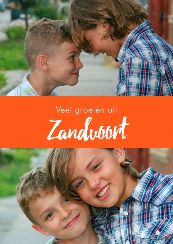 Zaandvort greetings in dutch language orange white