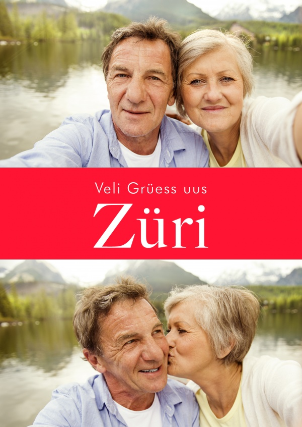 Zurich greetings in swiss-german dialect red white