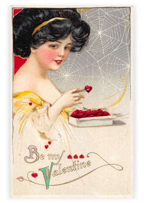 Mary L. Martin Ltd. vintage greeting card Be my Valentine