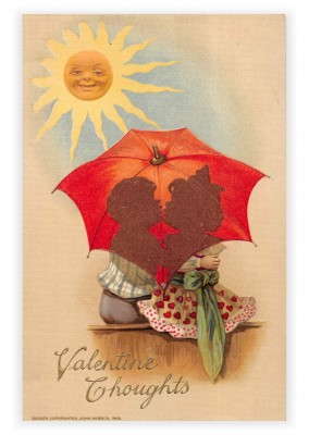 Mary L. Martin Ltd. vintage greeting card Valentine thoughts