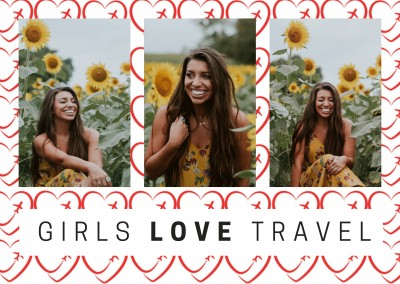 Girls LOVE Travel Logo pattern