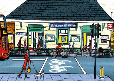 Illustration South London Artist Streatham hill station