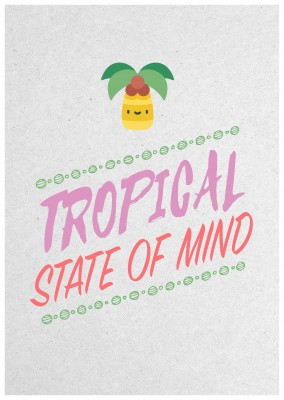 postcard quote Tropical state of mind
