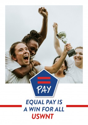 Equal Pay postcard design EQUAL PAY is a win for all