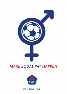 Equal Pay postcard design