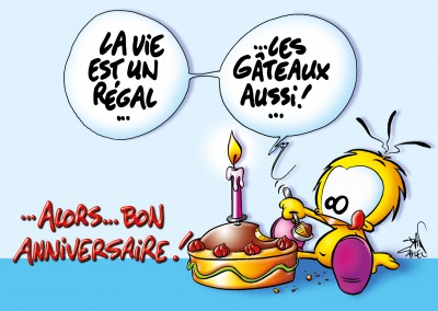 Le Piaf Cartoon Alors...Bon Anniversaire