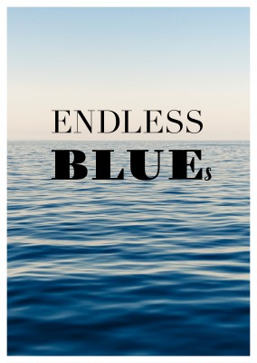 postcard travel Endless blue