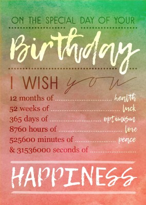 365 days of Happiness card birthday card postcard design