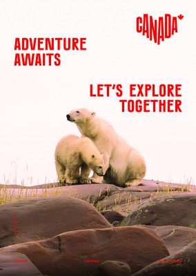 postcard saying Adventure awaits. Let's explore together., Churchill, Manitoba - Destination Canada