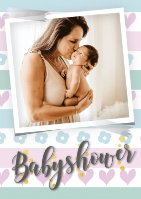 postcard saying Babyshower