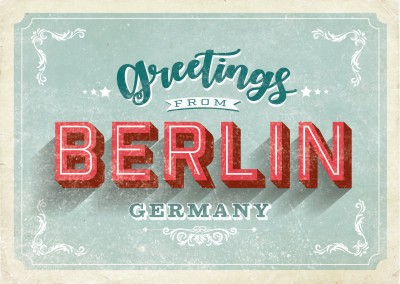 Berlin - Vintage Style Greetings from Berlin Germany