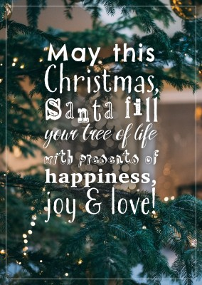 CHRISTMAS QUOTE POSTCARD