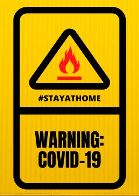 COVID-19 WARNING POSTCARD