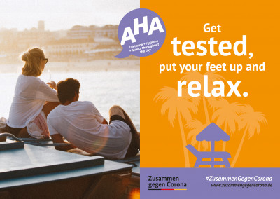 #ZusammenGegenCorona Get tested, put your feet up and relax.