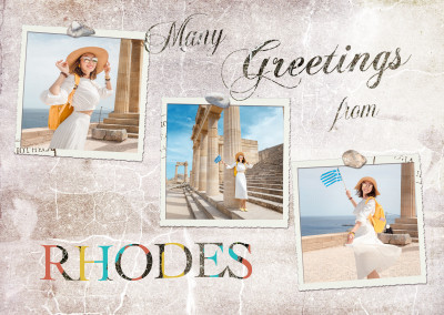 Many greetings from Rhodes