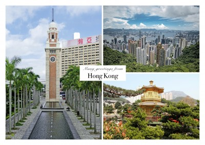 greetings from hong kong collage