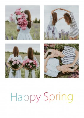 postcard HAPPY SPRING