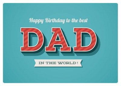 tuerkise postkarte happy birthday to the best dad in the world