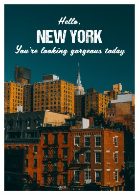 Hello, New York - Postkartenspruch