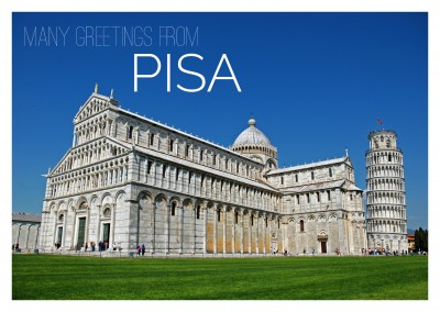 PHoto of Pisa tower with blie sky