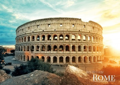 Photo of coliseum and forum romanum in Rome