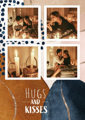 postcard Hugs and kisses