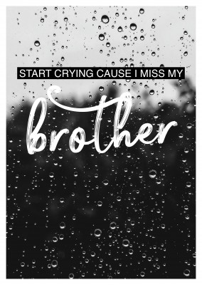 I MISS MY BROTHER Postcard quote