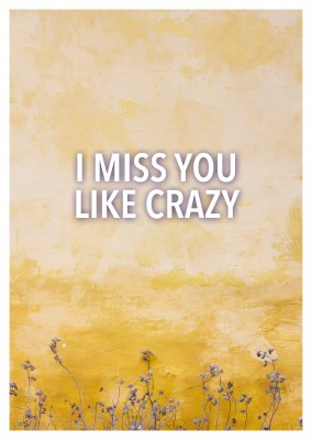 I MISS YOU LIKE CRAZY - Quote