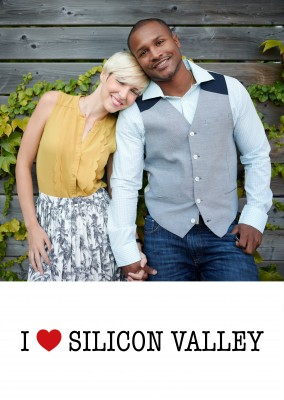 template with I love Sillicon Valley sign