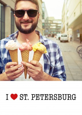 template with I love St. Petersburg sign