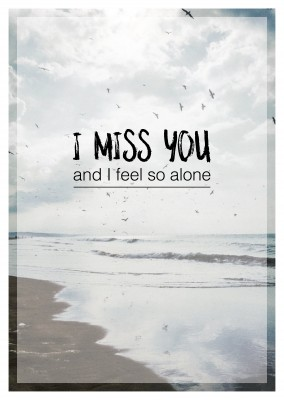 I miss you and I feel so alone