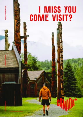 postcard saying I miss you. Come visit?, Ksan Historical Village, British Columbia - Destination Canada