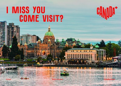 postcard saying I miss you. Come visit?, Victoria, British Columbia - Destination Canada