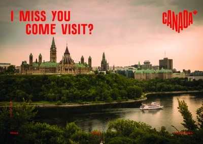 postcard saying I miss you. Come visit?, Ottawa, Ontario - Destination Canada