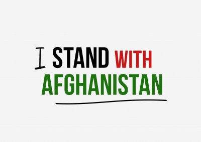 I stand with Afghanistan