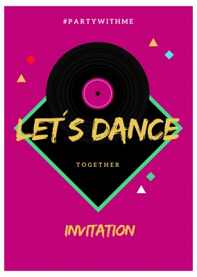 INVITATION PARTY- LET´S DANCE