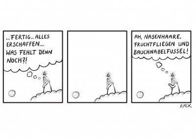 KPLX Cartoon Gott Bauchnabelfussel