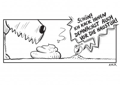 KPLX Cartoon Hundekacke Wurm